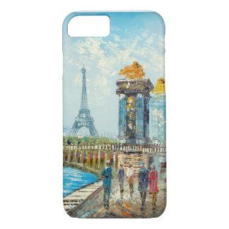Pintura de la escena de la torre Eiffel de París Funda iPhone 7
