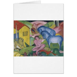 Pintura de la fantasía del vintage titulada 'el Dr Tarjeta De Felicitación