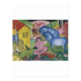 Pintura de la fantasía del vintage titulada 'el postales