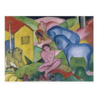 Pintura de la fantasía del vintage titulada 'el tarjeta postal