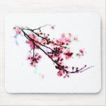 Pintura de la flor de cerezo alfombrillas de ratones