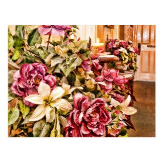 Pintura de la flor del vestíbulo postal