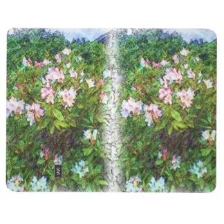 Pintura de la foto de la flor cuadernos