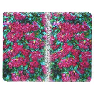 Pintura de la foto de la flor cuaderno