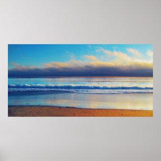 Pintura de la foto de la línea de la playa impresiones