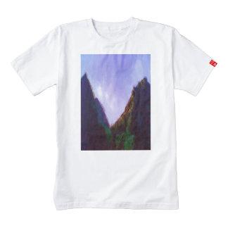 Pintura de la foto de la montaña playera zazzle HEART