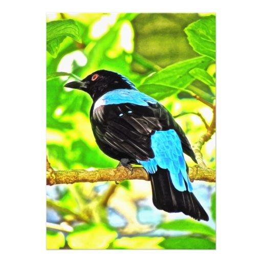 Pintura de la foto del Bluebird de hadas