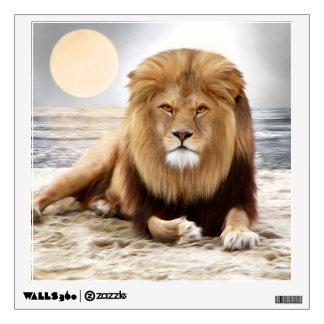 Pintura de la foto del océano del león vinilo