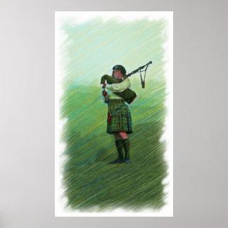 Pintura de la gaita de la música de la mañana de l póster