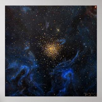 Pintura de la galaxia de la nebulosa de NGC 3603 d Posters