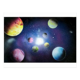 Pintura de la galaxia del espacio del arte de la postal