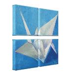 Pintura de la grúa de Origami Impresiones De Lienzo