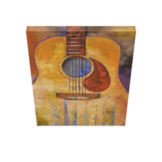 Pintura de la guitarra acústica impresiones en lienzo estiradas