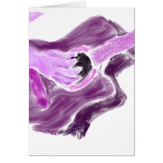 Pintura de la guitarra acústica, un brazo, versión tarjeta pequeña