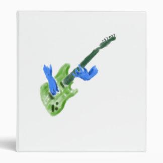 Pintura de la guitarra eléctrica, manos verdes del