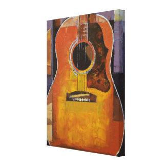 Pintura de la guitarra lona estirada galerias