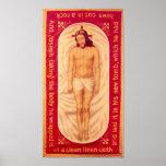 Pintura de la impresión de la bella arte de Cristo Poster