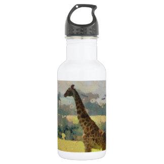 Pintura de la jirafa en la sabana en África
