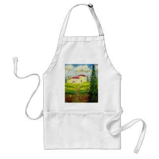 Pintura de la ladera de Toscana Delantal