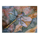 pintura de la libélula postal