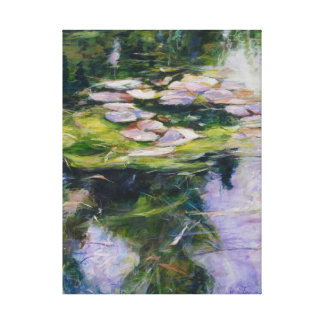 Pintura de la lona de Waterlilies Impresion En Lona