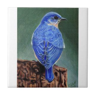 Pintura de la lona del Bluebird Azulejos