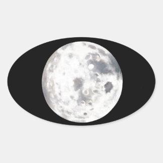 Pintura de la Luna Llena Colcomanias Oval