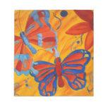 Pintura de la mariposa bloc de notas