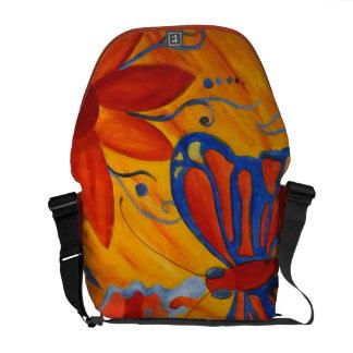 Pintura de la mariposa bolsa de mensajería