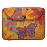 Pintura de la mariposa funda para macbook pro