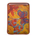 Pintura de la mariposa fundas para macbook air