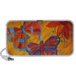 Pintura de la mariposa notebook altavoces