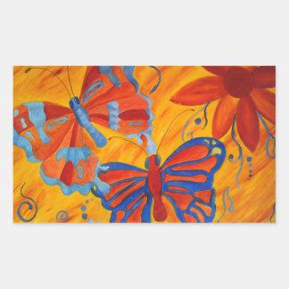 Pintura de la mariposa pegatina
