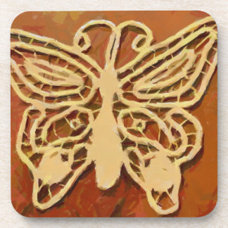 Pintura de la mariposa posavasos