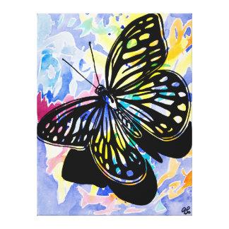 Pintura de la mariposa (púrpura) lona envuelta para galerias