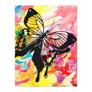 Pintura de la mariposa (roja) impresiones en lona estiradas