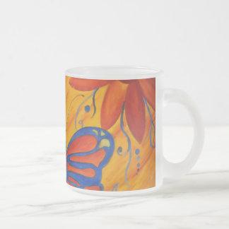 Pintura de la mariposa taza