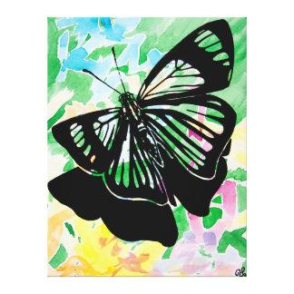 Pintura de la mariposa (verde) impresiones en lona