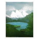 Pintura de la montaña membretes personalizados