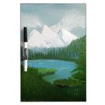 Pintura de la montaña pizarra blanca