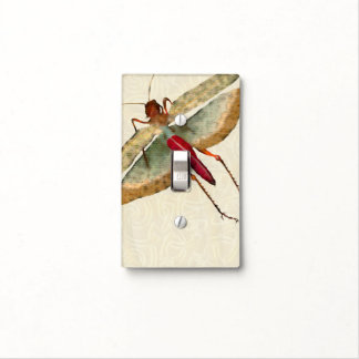 Pintura de la mosca del dragón - placa 1 del placas para interruptor