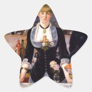 Pintura de la mujer de la barra pegatina en forma de estrella