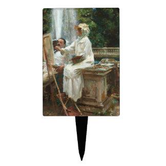 Pintura de la mujer en el chalet Torlonia Italia Decoración De Tarta