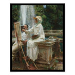 Pintura de la mujer en el chalet Torlonia Italia Poster