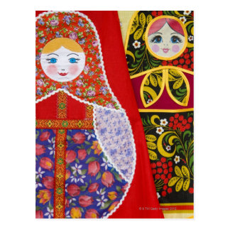 Pintura de la muñeca de Matryoshka del ruso Tarjetas Postales