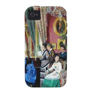 Pintura de la música de los hombres de las mujeres iPhone 4 carcasas