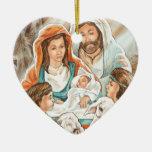 Pintura de la natividad con los pequeños muchachos ornatos