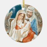 Pintura de la natividad de la estrella del navidad adorno de reyes