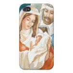 Pintura de la natividad de la estrella del navidad iPhone 4 carcasa