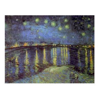 Pintura de la noche estrellada de Van Gogh Postal